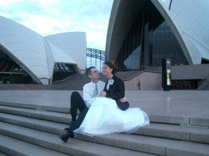 Wedding at Aria restaurant near the Sydney Opera House